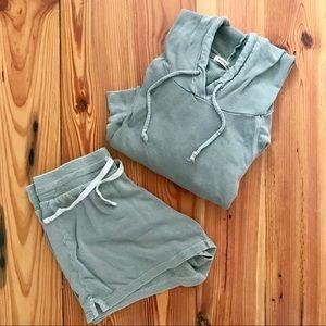 Marine Layer Hoodie and Shorts Lounge PJ Set